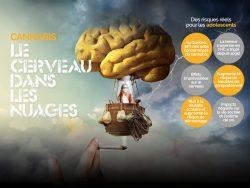 L'effet du cannabis sur le cerveau des adolescents.