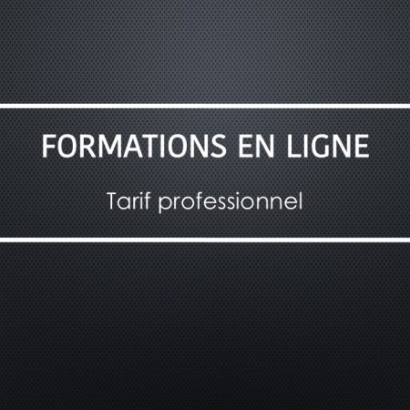 Formations en ligne - Tarif professionnel
