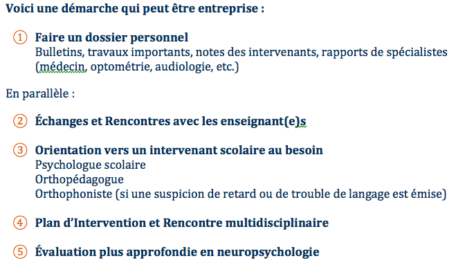 Recommandations dyscalculie